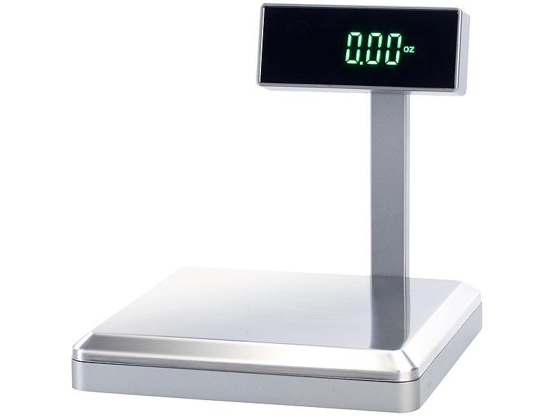 TokioKitchenWare Digitale Präzisions-Küchenwaage bis 5 kg, neigbares ...